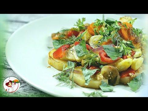 РАГУ овощное с грибами. Очень вкусно и просто!
