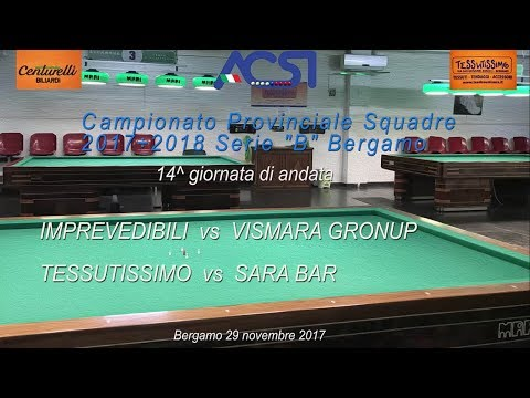"Campionato Serie ""B"" Bergamo 14^  andata - Live stream di Rosario Velardo"