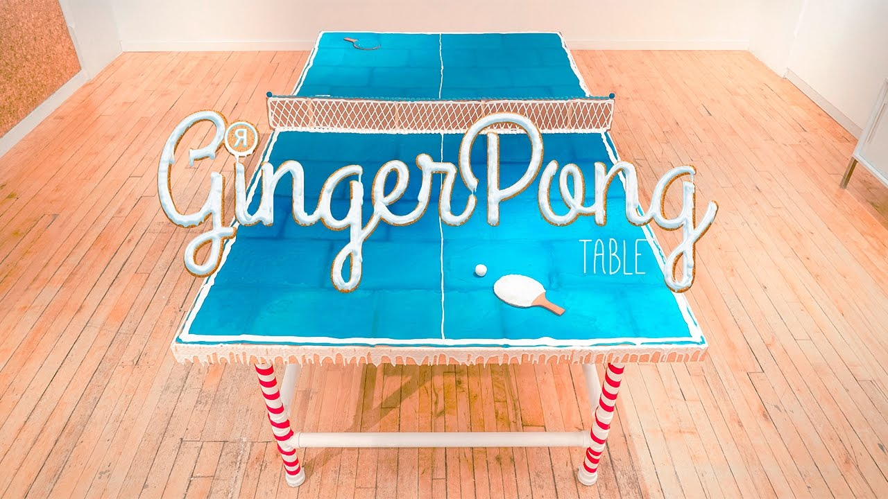 How To Make A Full Size Gingerbread Ping Pong Table