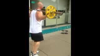 Ben Lasche @ Boardwalk Fitness Winona Leg Day Lunges down 3rd Street Winona Minnesota