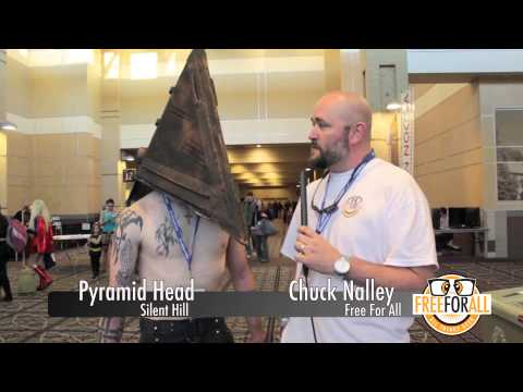with Pyramid Head from Silent Hill
