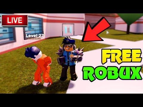 🔴 FREE ROBUX GIVEAWAY! | ARRESTING STREAM SNIPERS! | Roblox Jailbreak, Mad  City, Prison Life | Live