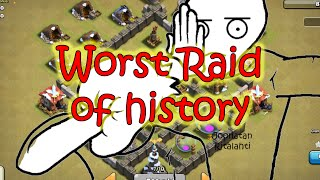 Worst cw raid of history - Clash of Clans HD