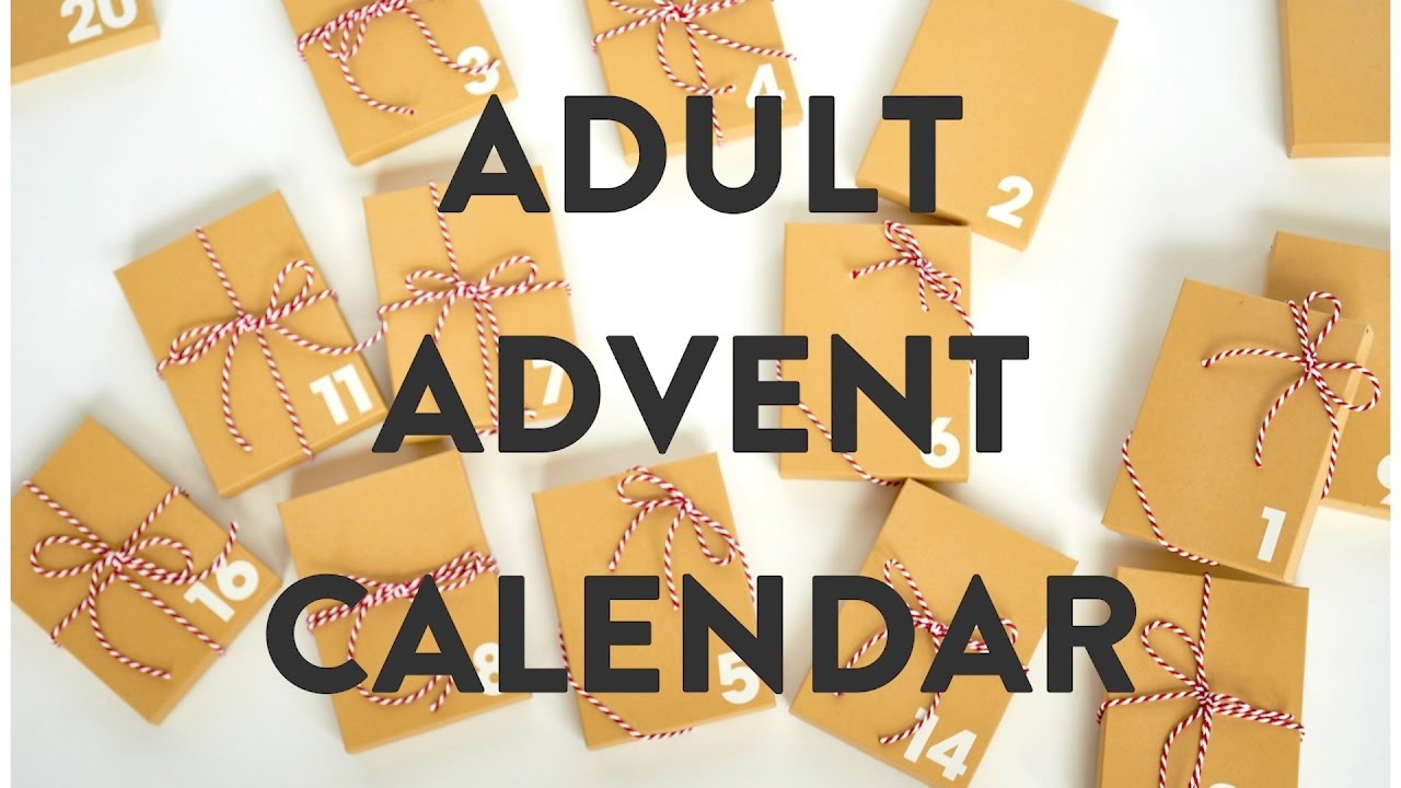 Diy Advent Calendar For Adults : Diy advent gift calendar for adults youtube