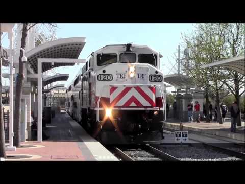 DART, TRE, and Amtrak actions at Dallas Union Station 3/12/13