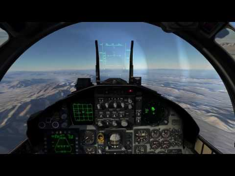 DCS 2.0 Nevada F-15C Red Flag Mission 2: Local Area Checkout