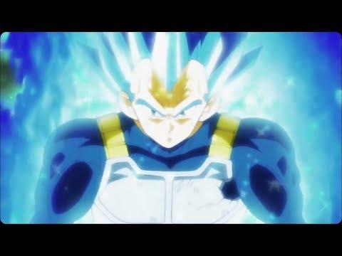 Vegeta turns ultra blue, royal blue super sayen form for first time ,Vegeta limit breaker form