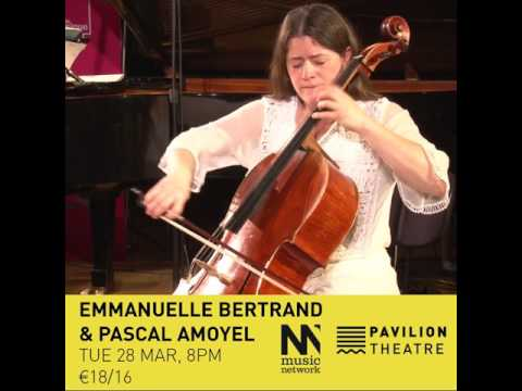 Emmanuelle Bertrand (cello) & Pascal Amoyel (piano) - 16 Mar 2017 - Pavilion Theatre