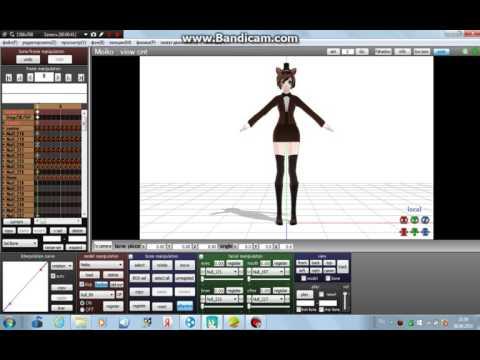 как загрузить мцзыку и анимацию в MMD