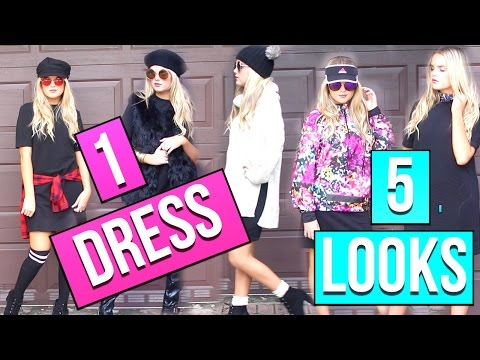 2016 FALL FASHION TRENDS   5 WAYS TO STYLE 1 DRESS!!