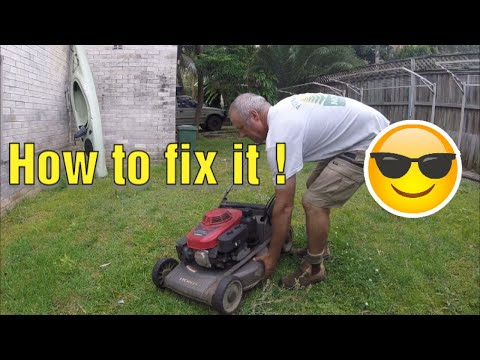 How to fix a Honda Lawn Mower thats making a loud knocking noise
