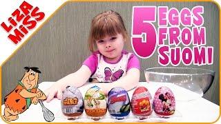 Флинстоны, Звездные войны и другие яички из Финляндии. 5 eggs with surprises from Finland
