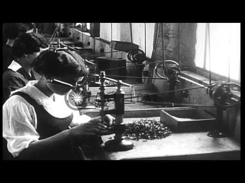 Manufacture of munitions of many types, including bomb, artillery shells and bull...HD Stock Footage
