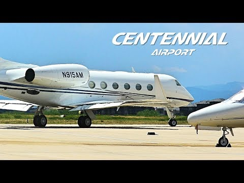 CLOSEUP Centennial Airport(APA) Planespotting - Multiple Arrivals and Departures