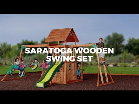Saratoga Wooden Swing Sets From Parasol Outdoor Youtube