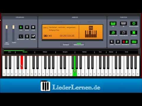 Wolfgang Petry - Verlieben, verloren, vergessen, verzeih'n - Klavier lernen - Musiknoten - Akkorde
