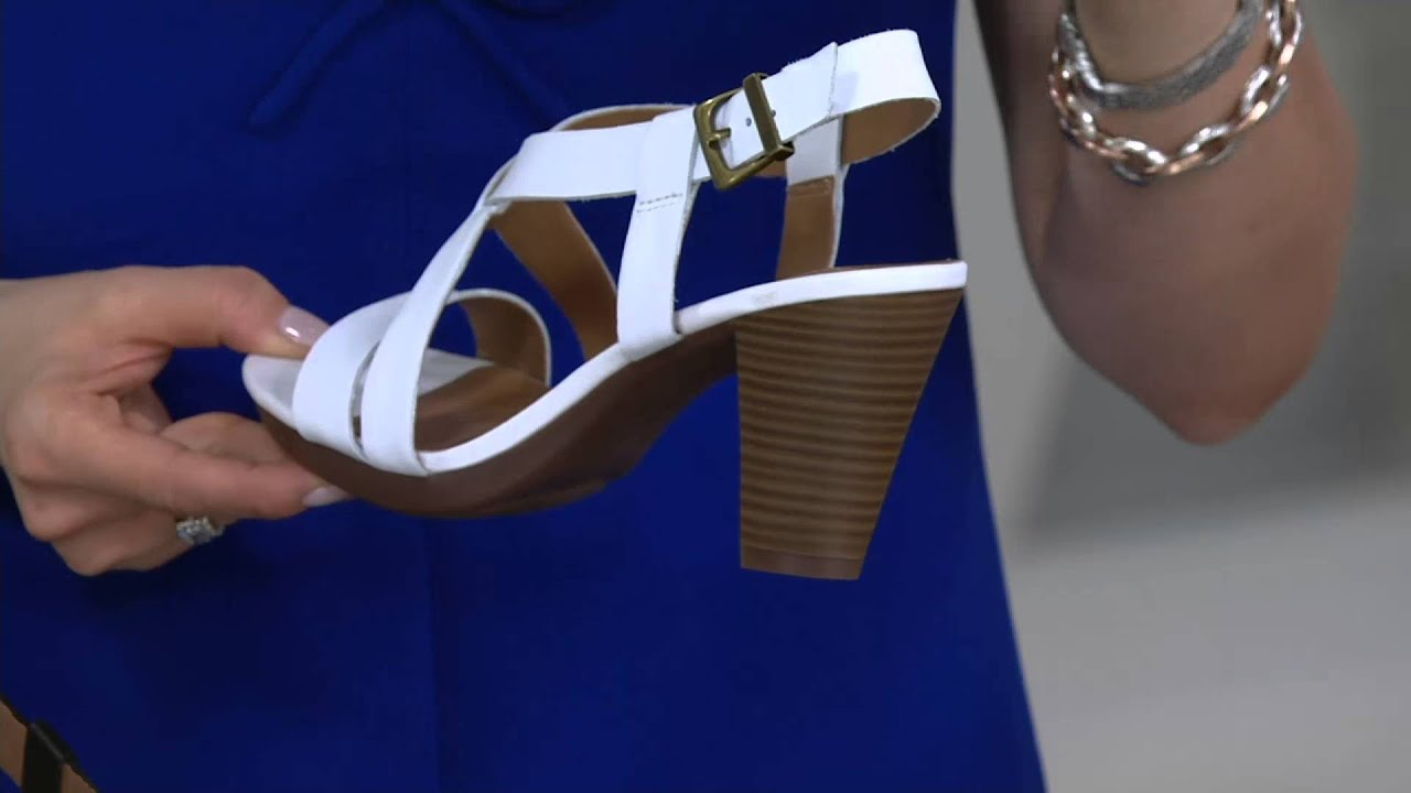 c395c0937bc8 Clarks Leather Multi-strap Sandals - Jaelyn Fog on QVC - YouTube