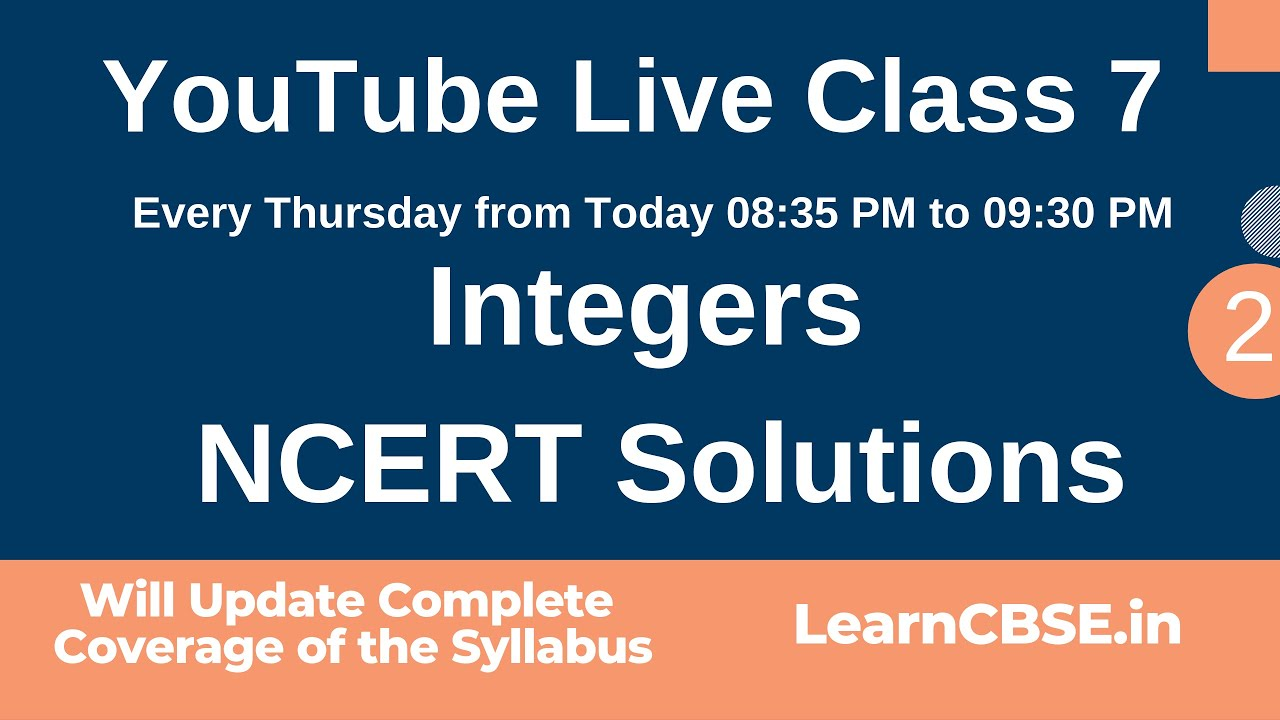 Class 7 Maths Integers NCERT Solutions | LearnCBSE in