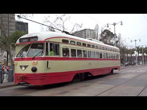 The F Line - Heritage Streetcars in San Francisco 2018