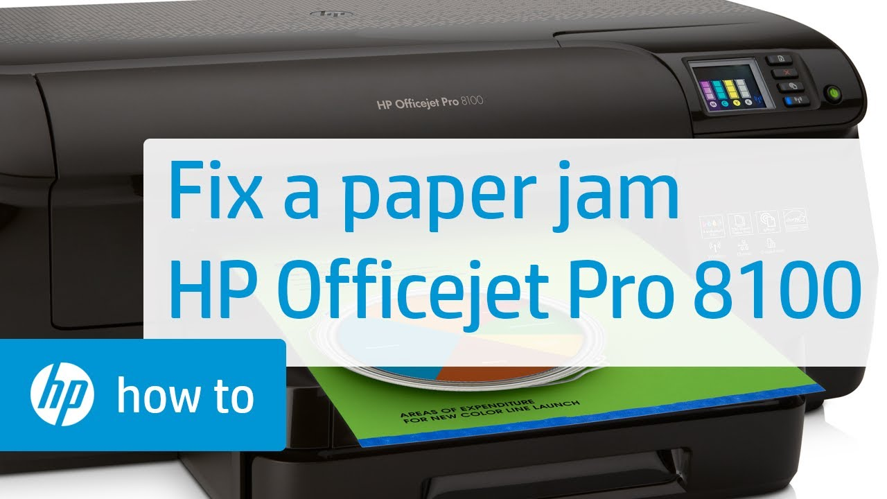 Fixing A Paper Jam On The Hp Officejet Pro 8100 Hp