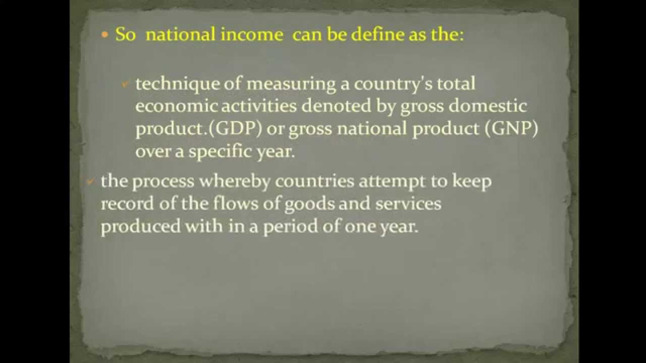 what is national income of a country