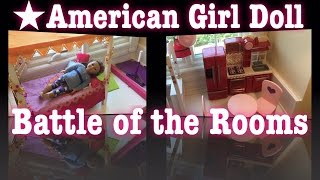 American Girl Doll Battle of the Rooms