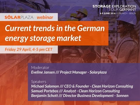 Webinar: Current trends in the German energy storage market