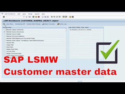 SAP LSMW Customer master data migration ECC 6.0