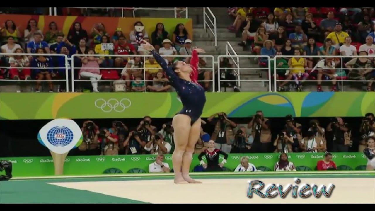 Olympic Gymnastics 2016 Rio Aly Raisman Floor Routine