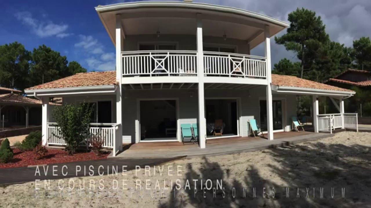 location maisonvilla de vacances carcans plage avec piscine 10 personnes - Location Maison 10 Personnes Avec Piscine