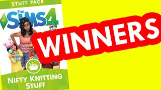Nifty Knitting GIVEAWAY WINNERS! | The Sims 4 Nifty Knitting Stuff Pack