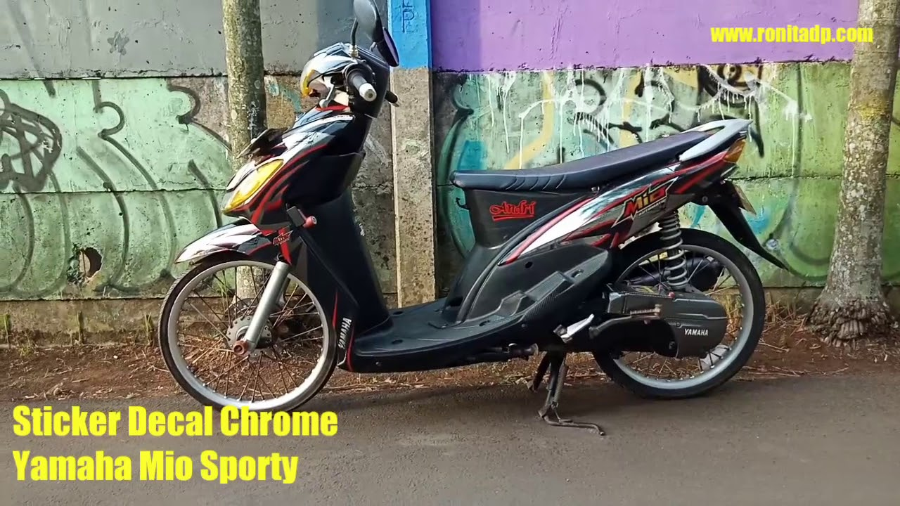 Sticker decal chrome yamaha mio