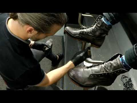 Shine Force strikes again, ASMR, shoe shine