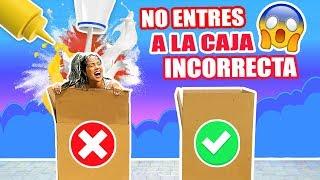 NO ENTRES A LA CAJA INCORRECTA Con Mi PERRO - RETO EXTREMO SandraCiresArt ft Karim