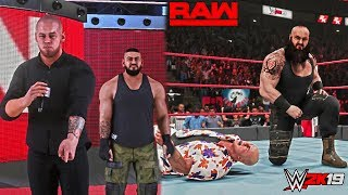 WWE 2K19: Constable Corbin gets revenge against Kurt Angle ft. Braun Strowman Tattoo Fix Mod! (RAW)