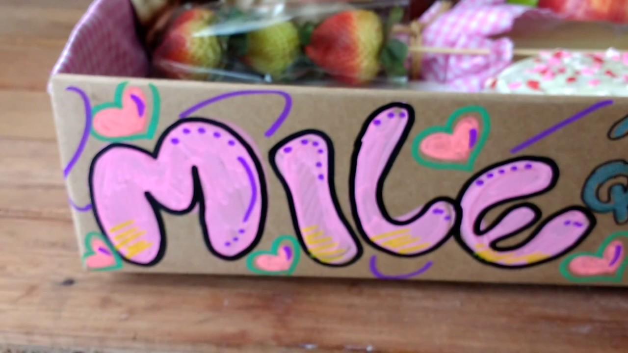 Desayuno sorpresa en caja de cart n para cumplea os para - Sorpresas de cumpleanos ...