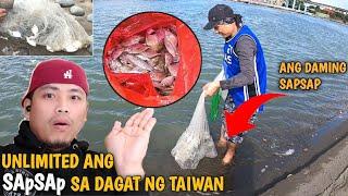 SAPSAP ANG HULI NAMIN SA DAGAT NG TAIWAN/KINILAW/PICNIC By;bulay og tv