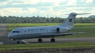 Kenyan Air Force Fokker 70 Takeoff from Northolt