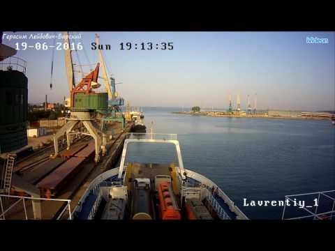 Паромы порт Крым - порт Кавказ Грузоворот на переправе через Керченский пролив Конвейер :()