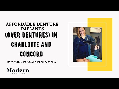 Affordable Denture Implants (Over Dentures) In Charlotte and Concord NC