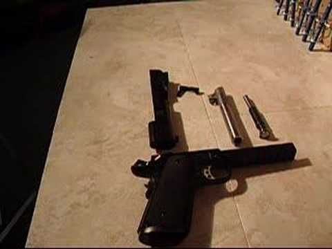 1911 pistol disassembly guide bull barrel and flgr youtube. Black Bedroom Furniture Sets. Home Design Ideas