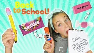 DIY Edible School Supplies | Candy Back To School Pranks and Hacks | Kids Cooking and Crafts