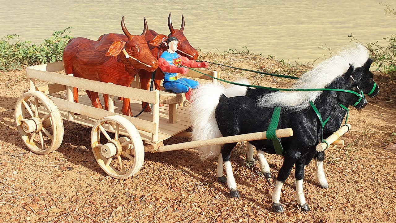 How To Make Horse Cart From Wood - Creative Woodworking Projects With Wooden Cow