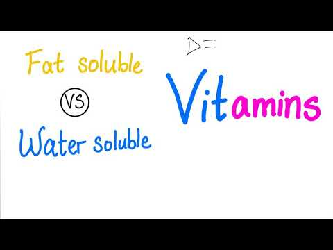 Fat Soluble VS Water Soluble Vitamins 🍎 🥬 🍋