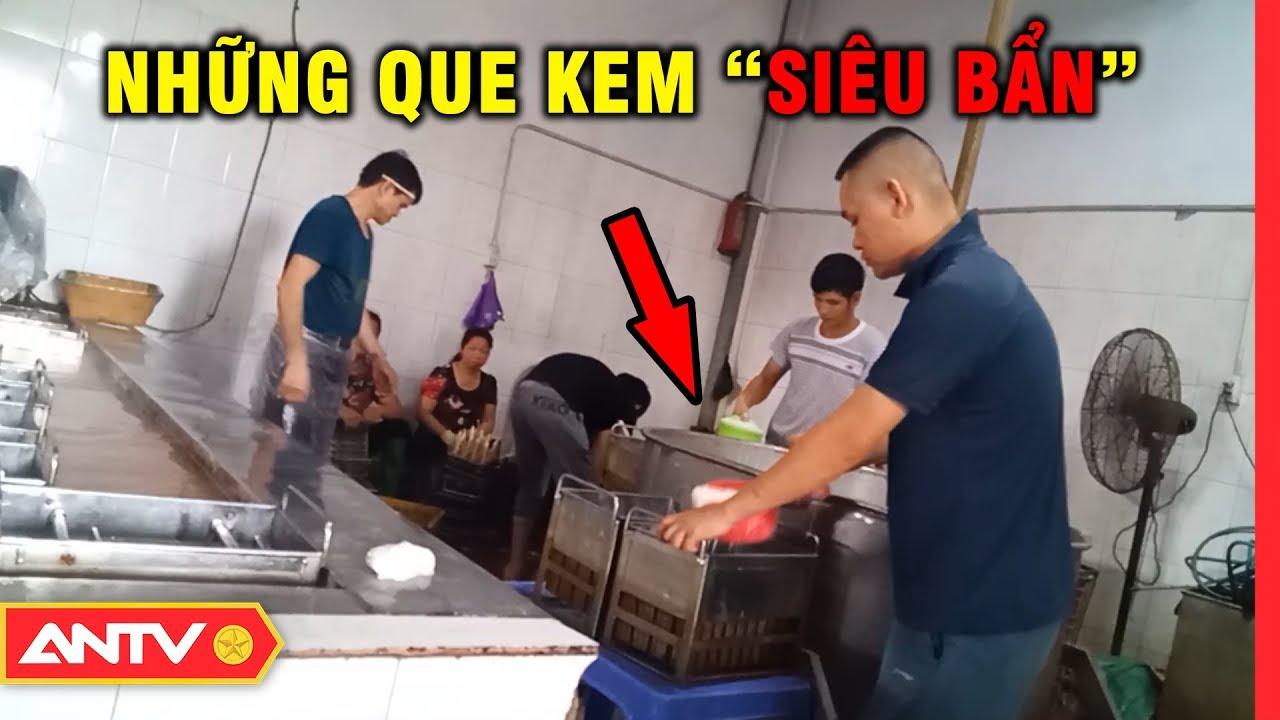 Hết hồn quy trình sản xuất kem 'siêu bẩn' tại Hà Nội   An toàn sống   ANTV