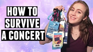 CONCERT SURVIVAL GUIDE: WHAT TO BRING + TIPS