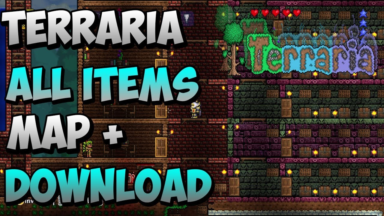 terraria all items world w link xbox 360 youtube