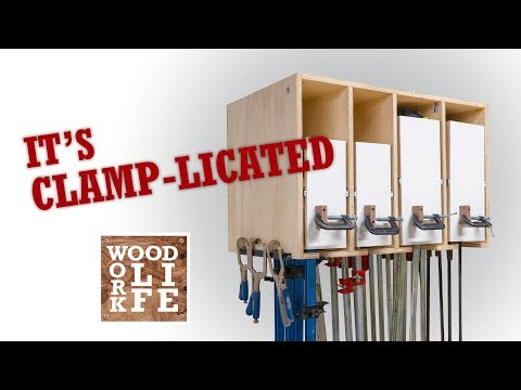 My Clamp Rack?...its Clamp-licated   Woodworking Builds