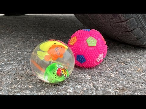Crushing Crunchy & Soft Things by Car! EXPERIMENT - CAR VS Water BALLOONS FULCOLOR, SQUISHY BALLOONS