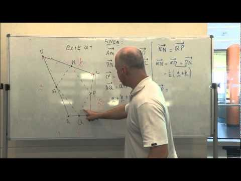 Applications of vectors to geometric proof